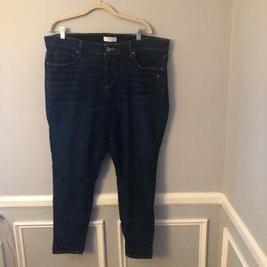 Loft Plus Modern Skinny Soft Jeans 18W